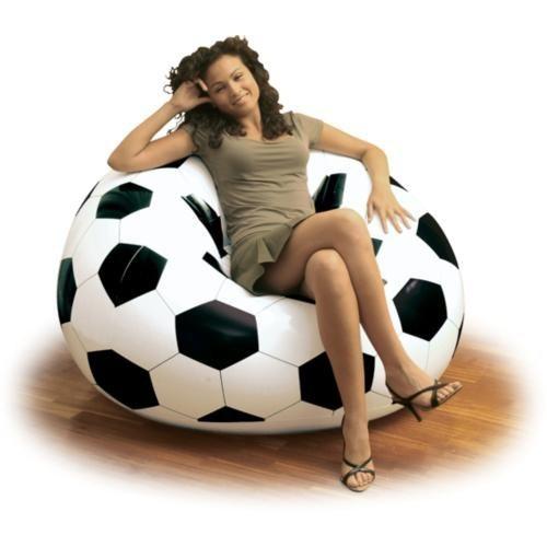 Delta Siyah & Beyaz Futbol Topu Desenli Taraftar Koltuğu