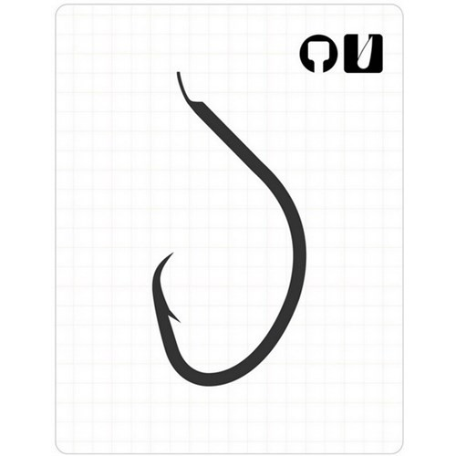 Prusa Fishing Fudo 380 Mutsu Cırcle Kavisli Çapraz İğne Black Nikel No:7