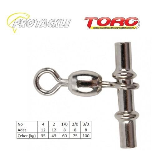 Protackle Toro Crossline Swivel Kıstırma Fırdöndü Black Nikel No:2