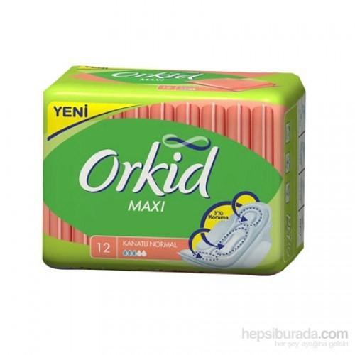 Orkid Maxi Hijyenik Ped Kanatlı Normal (12'Li Paket)