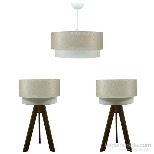 Crea Lighting Doubleshade Ceviz Yatak Odası Set /File/Sütlü Kahve
