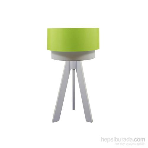 Crea Lighting Doubleshade Beyaz Tripod Abajur/Scala/Yeşil