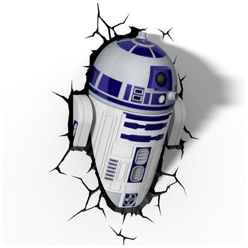 3D Light Fx Star Wars R2-D2 Duvar Lambası