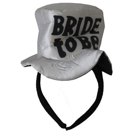 Pandoli Bride To Be Yazılı Şapka Model Taç Beyaz