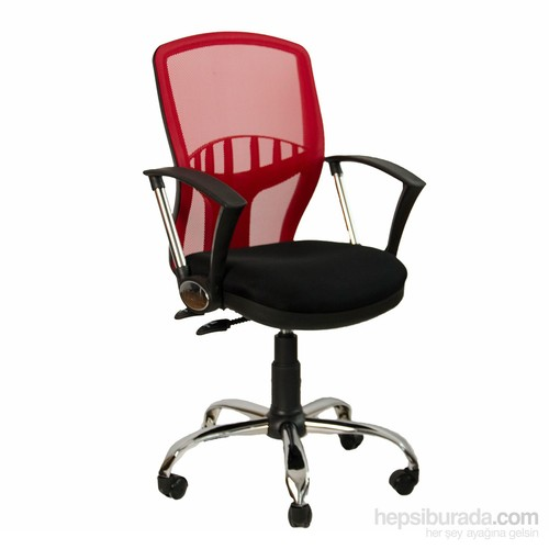 Bürosim Ofis Koltuğu Yönetici Koltuğu Çalışma Koltuğu Prizma Kırmızı