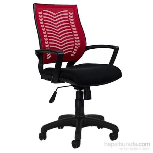 Bürosim Ofis Koltuğu Yönetici Koltuğu Makam Koltuğu Sow Kırmızı