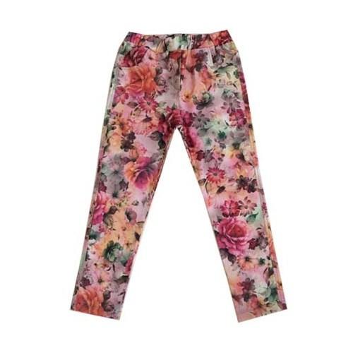 Zeyland Kız Çocuk Yesil Cicekli Tayt Pantolon K-42Kl204110