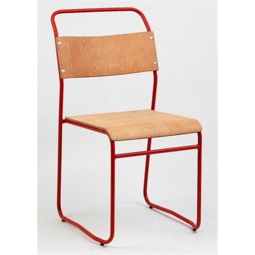 Decosit-Erinöz Cox Metal Sandalye / Kontraplak (Beyaz) 4'Lü Set
