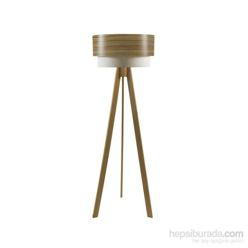 Crea Lighting Doubleshade Naturel Tripod Lambader/Wood/Zeytin