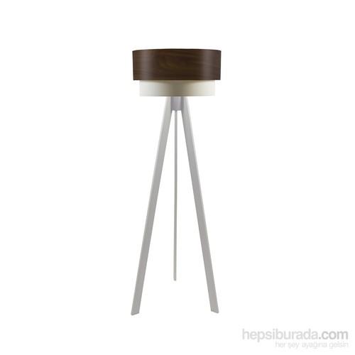Crea Lighting Doubleshade Beyaz Tripod Lambader/Wood/Betula
