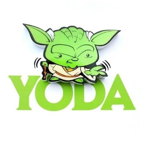 3D Light Fx Star Wars Yoda Mini Duvar Lambası