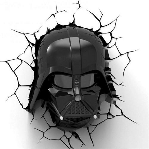 3D Light Fx Star Wars Darth Vader Helmet Duvar Lambası