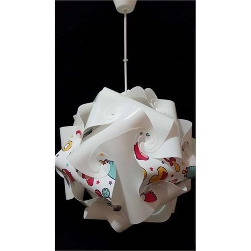 Puzzle Pya042 Beyaz/Bebek Ürünleri Desenli Avize