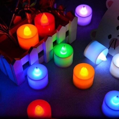 Renk Değiştiren Mini Led Mum-Pembe