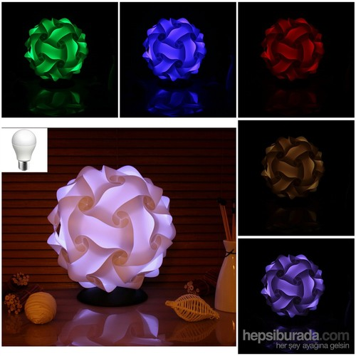 "Cosmo Light Libra Multicolor"" 7 Renk Led Teknolojisi"" Abajur"