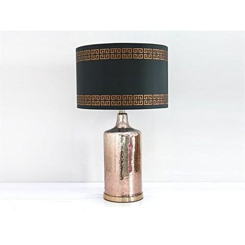 Lucky Art Siyah Şapkalı Bronz Lambader - Mc 140