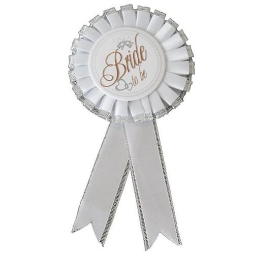 Pandoli Bride To Be Yazılı Beyaz Gelin Rozeti