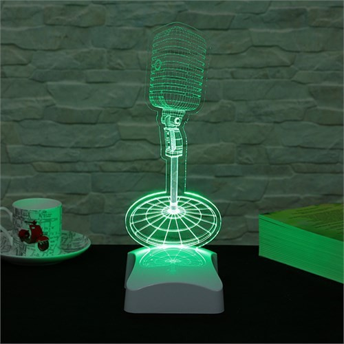 Dekorjinal 3 Boyutlu Mikrofon Lamba V23d221