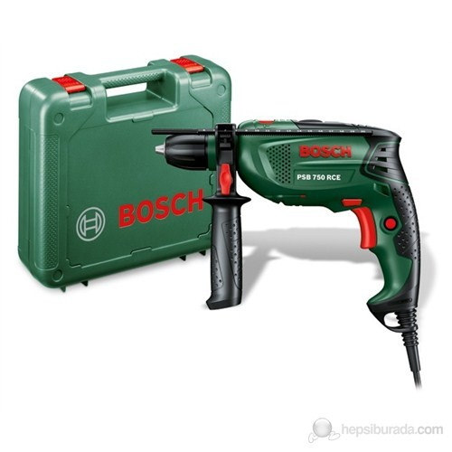 Bosch PSB 750 RCE Universal-Elektrikli 750 Watt Kompakt Seri Darbeli Matkap