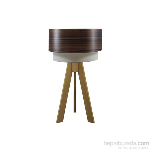 Crea Lighting Doubleshade Naturel Tripod Abajur/Wood/Dragon Ceviz