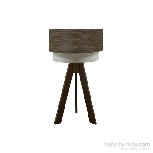 Crea Lighting Doubleshade Ceviz Tripod Abajur/Wood/Natural Alpi