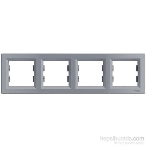 Schneider Electric Asfora Plus Dörtlü Çerçeve Çelik