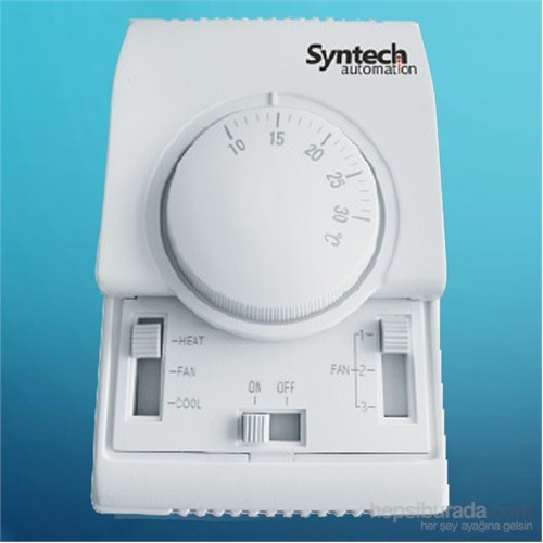 Syntech Fancoil Termostatı Mekanik 2 Borulu 3 Fanhız On/Off Syn160