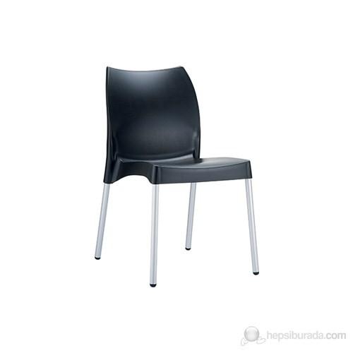 Siesta 049 Vita Sandalye (Alüminyum Ayaklı) Siyah - 1 Adet
