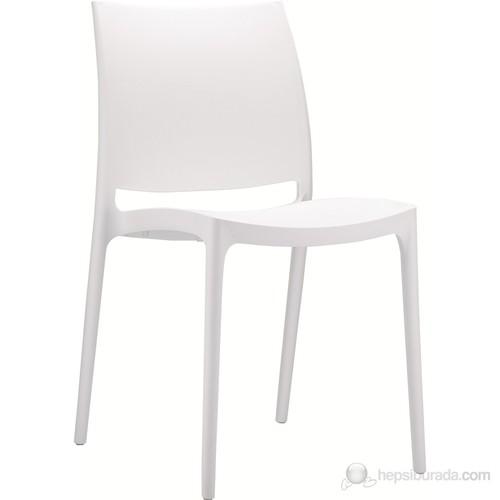 Siesta 025 Maya Sandalye (Hi-Tech) Beyaz - 1 Adet
