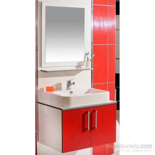 Zafer 75 Cm Banyo Dolabı Kırmızı