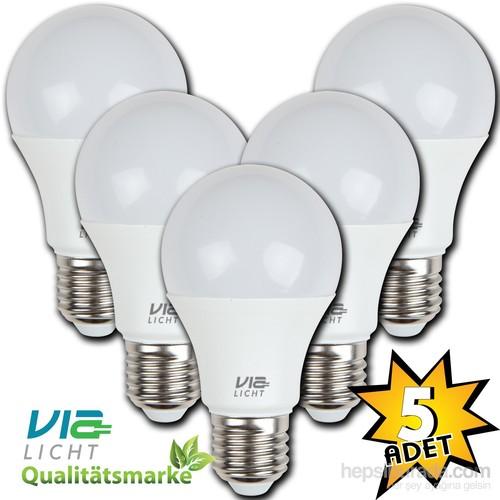 Vialicht 5W(40W)Led Ampul E27 470Lümen Eco 5'Li Paket 2700K Sarı Işık