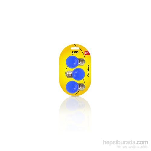 Petrix Pa030Clr-S 3Lü Paket Mavi Renkli Led Ampul
