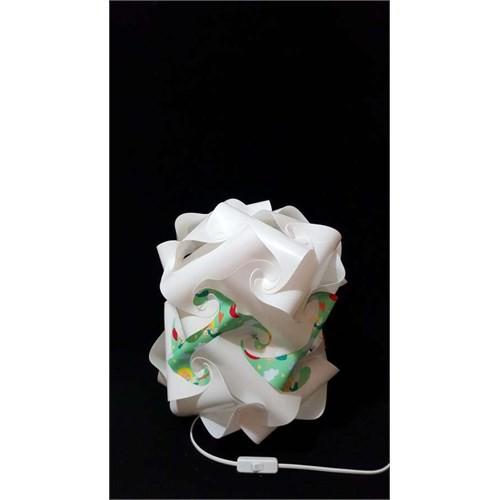 Puzzle Psabj026 Beyaz/Aşk Meleği Desenli Abajur