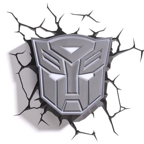 3D Light Fx Transformers Autobot Shield Duvar Lambası