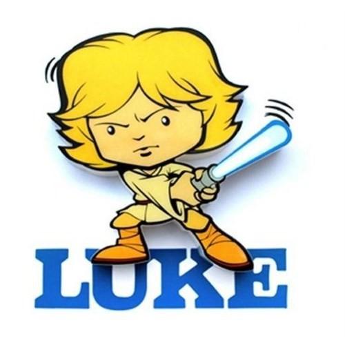 3D Light Fx Star Wars Luke Mini Duvar Lambası