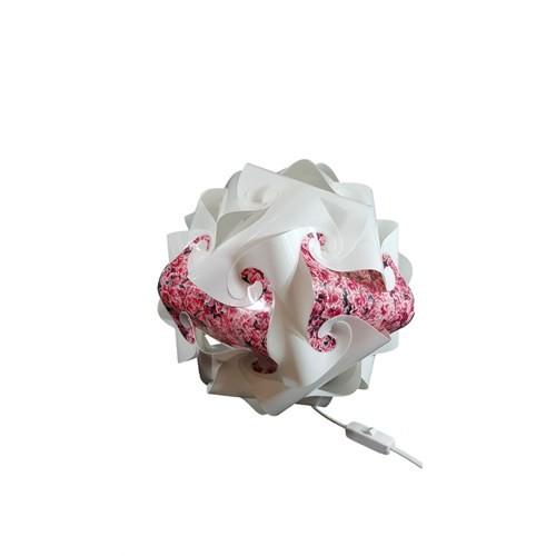 Puzzle Beyaz/ Abajur/Çiçek Desenli 006