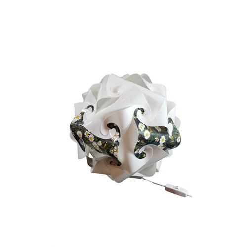 Puzzle Beyaz/Abajur/Çiçek Desenli 001