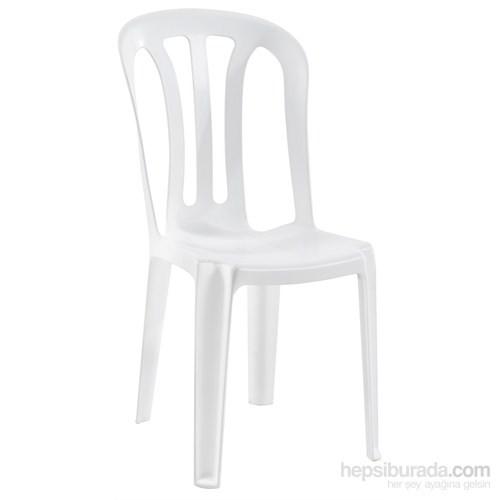 Papatya Buket Sandalye Plastik Beyaz