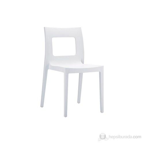 Siesta 026 Lucca Sandalye (Hi-Tech) Beyaz - 1 Adet