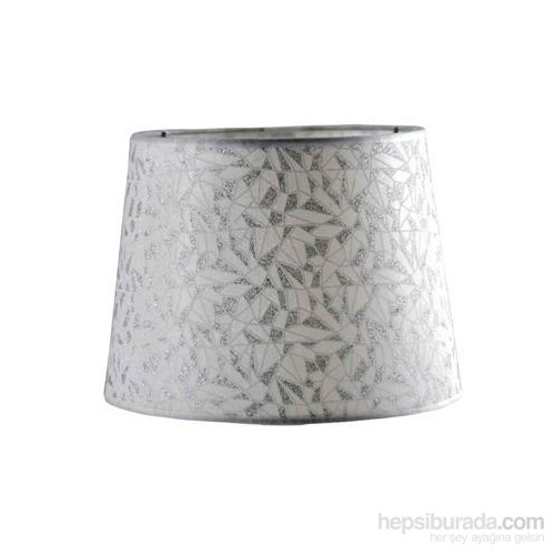 Tek - İş Q25 Gümüş Desen Abajur Şapkası