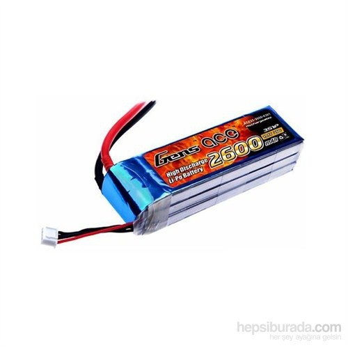 Gens Ace 2600Mah 11.1V 25C 3S1p Lipo Batarya