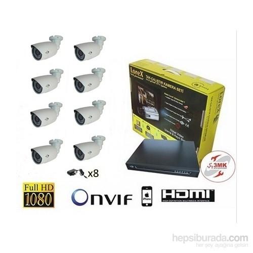 8 Kameralı IP Kamera Seti
