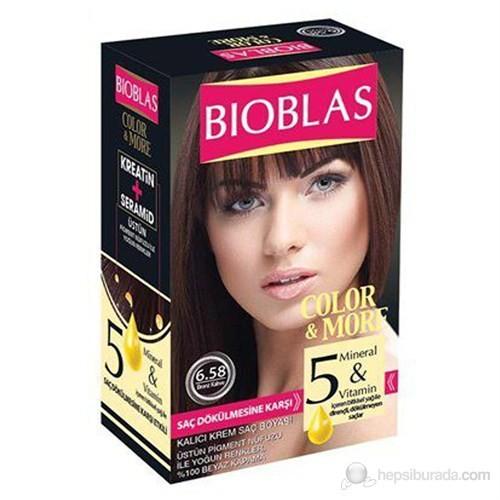Bioblas 6.58 Bronz Kahve 50 Ml. Saç Boyası