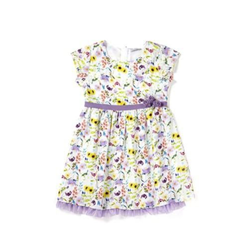 Zeyland Kız Çocuk Desenli Elbise - K-61M4ELA31