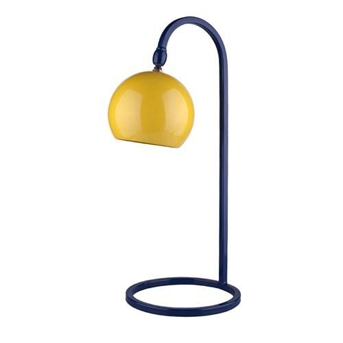 Fivorno Moddy Serisi Sarı Ve Lacivert Renkli Oynar Başlıklı Masa Lambası