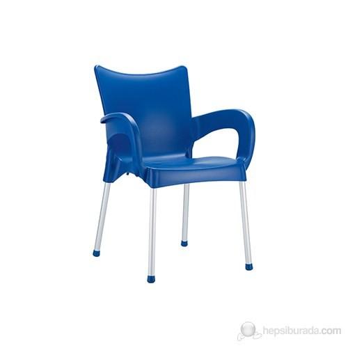Siesta 043 Romeo Koltuk (Alüminyum Ayaklı) Mavi - 1 Adet
