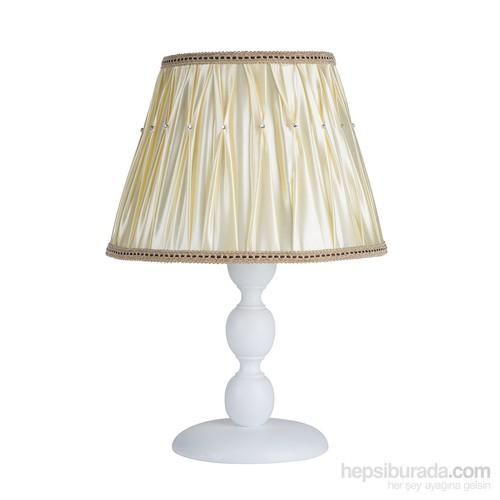 Modelight Mode Light Küçük Boncuk Abajur Beyaz/Boncuklu Saten Krem Şapka