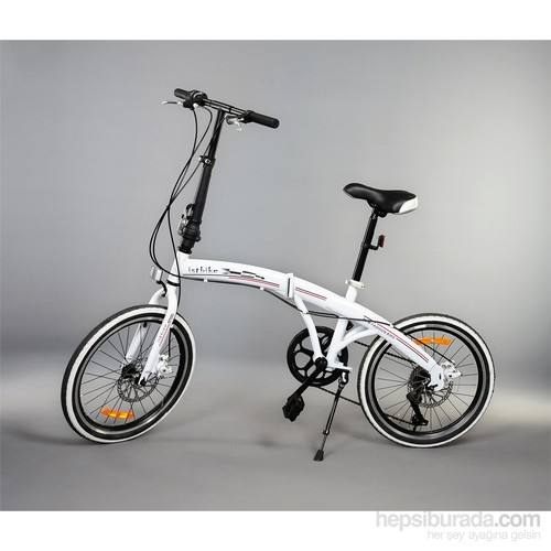 """İstbike 20"""" Katlanır Bisiklet Beyaz"""