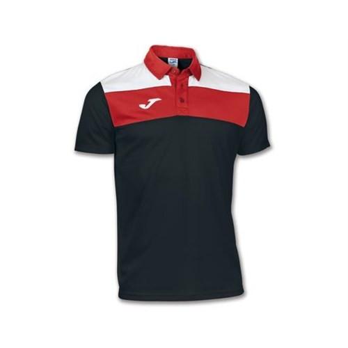 Joma 100246.100 Polo Crew Black White Erkek Polo T-Shirt