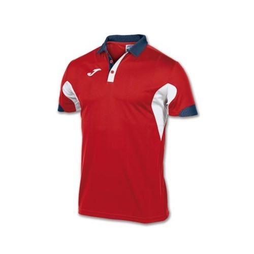 Joma 100184.600 Polo Master Red White S/S Erkek Polo Tişört